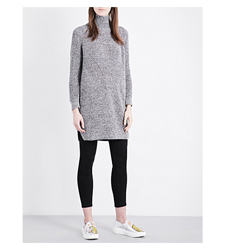 TOPSHOP Longline knitted jumper (Charcoal