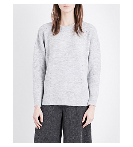 TOPSHOP Crewneck knitted sweater (Grey