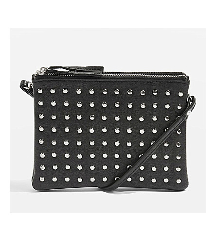 TOPSHOP Oakly studded cross-body bag (Black