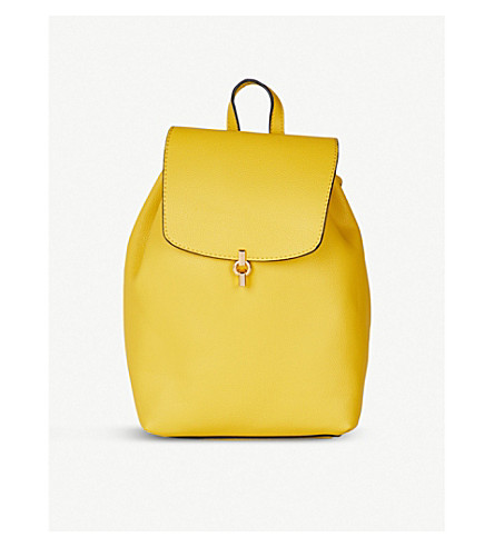 TOPSHOP Lucy metal tab backpack (Yellow