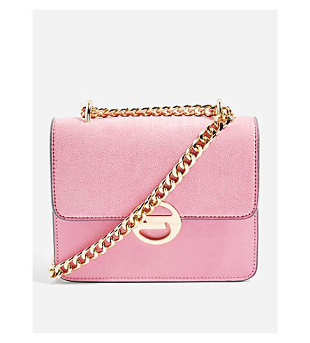 TOPSHOP Rae faux-leather cross-body bag (Pink