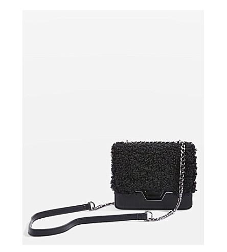 TOPSHOP Kylie borg cross-body bag (Black