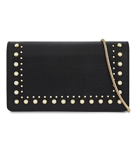 TOPSHOP Orla studded cross-body bag (Black