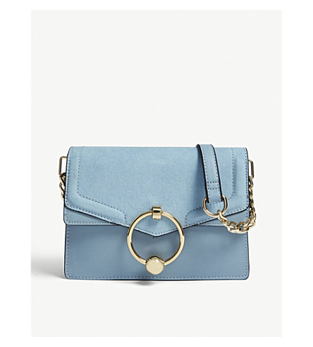 TOPSHOP New Seline leather cross-body bag (Blue