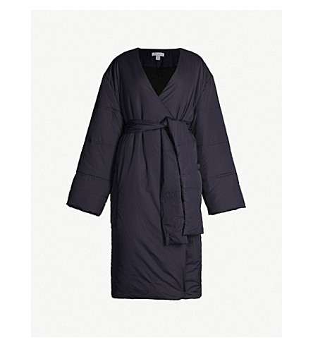 TOPSHOP Boutique Kindra longline puffer coat (Navy blue