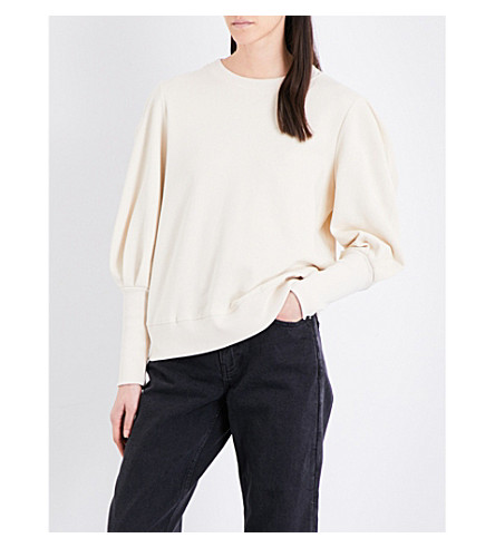 TOPSHOP Boutique Mutton cotton sweatshirt (Buttermilk