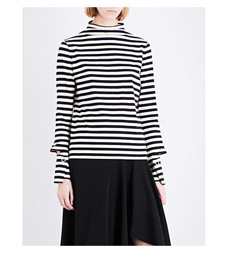 TOPSHOP Boutique stripe-print cotton top (Multi