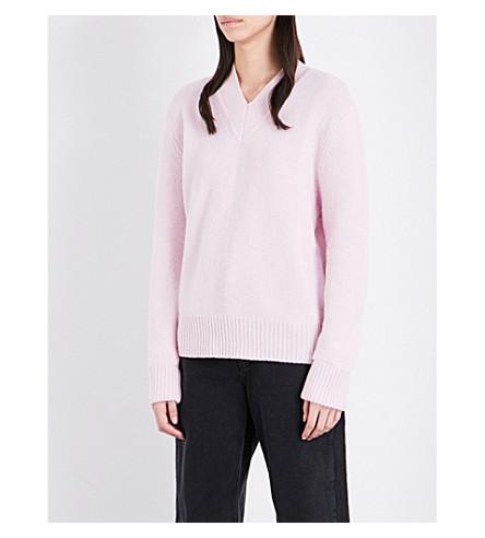 Topshop BOUTIQUE V NECK JUMPER - Pullover - pink 6k6GJLBZ9k
