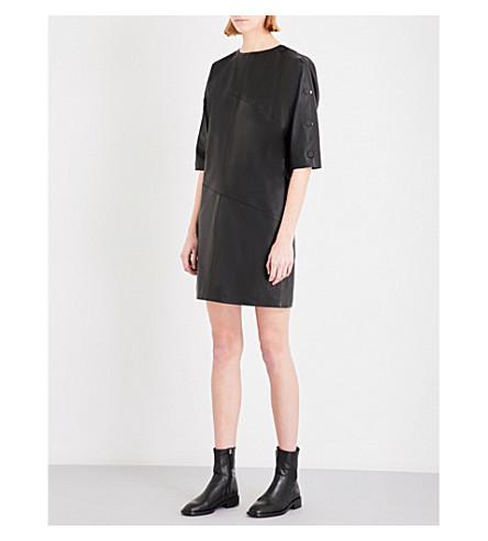 TOPSHOP Boutique Batwing leather dress (Black