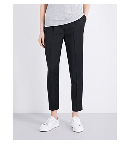TOPSHOP Boutique tailored wool-blend trousers (Black