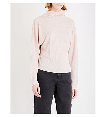 TOPSHOP Boutique gauzy knitted jumper (Blush