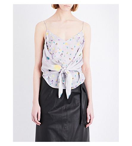 TOPSHOP Boutique floral-print top (Ivory