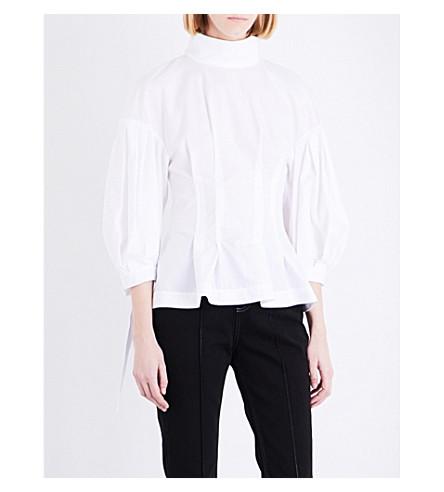 TOPSHOP Boutique corset cotton shirt (White