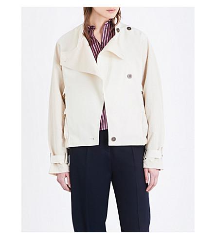 TOPSHOP Unique oversized cotton jacket (Chalk
