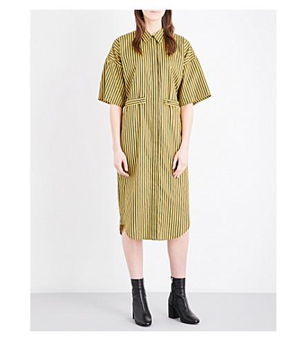 TOPSHOP Unique Tiller cotton shirt dress (Yellow