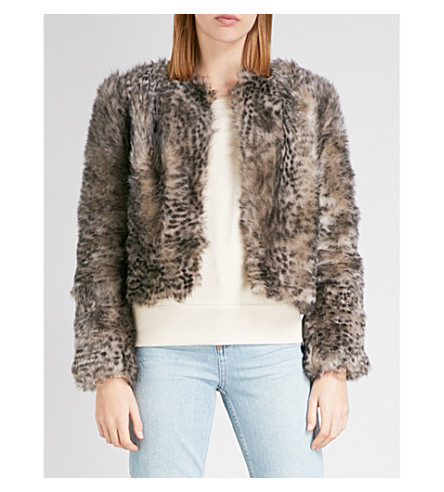 TOPSHOP Unique D'arblay shearling jacket (Grey