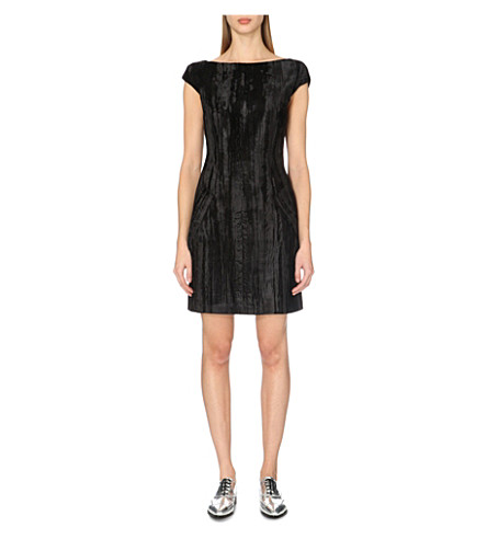 TOPSHOP Unique Mayall velvet shift dress (Black