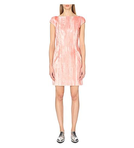 TOPSHOP Unique Mayall velvet shift dress (Petal