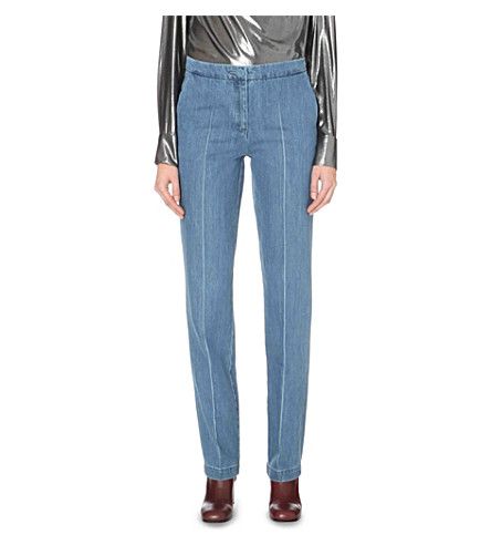 TOPSHOP Unique Whitcomb straight high-rise jeans (Bleach+blue