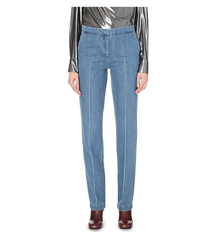 TOPSHOP Unique Whitcomb straight high-rise jeans (Bleach+blue