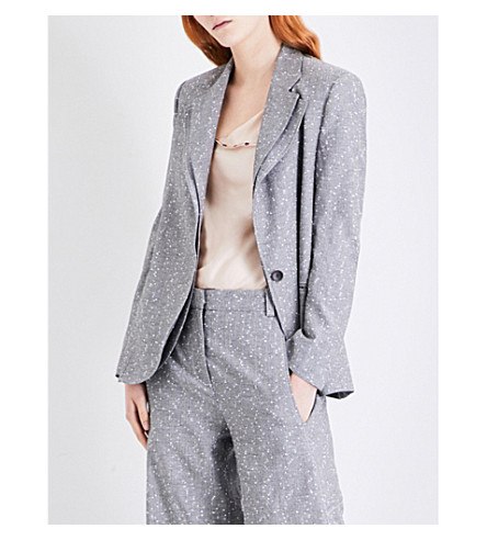 TOPSHOP Unique Fontana wool-blend jacket (Grey