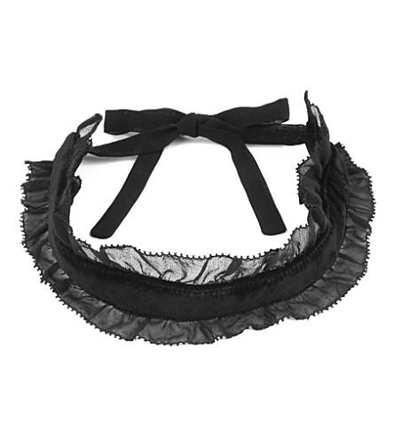 TOPSHOP Unique victorian velvet self-tie choker (Black