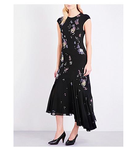 TOPSHOP Unique embellished silk dress (Black
