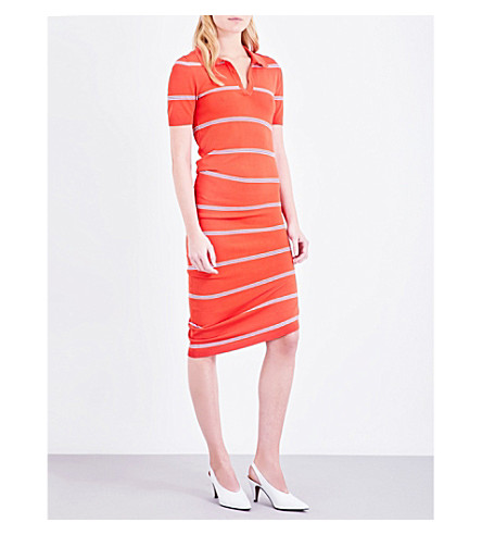 TOPSHOP Unique striped knitted dress (Red