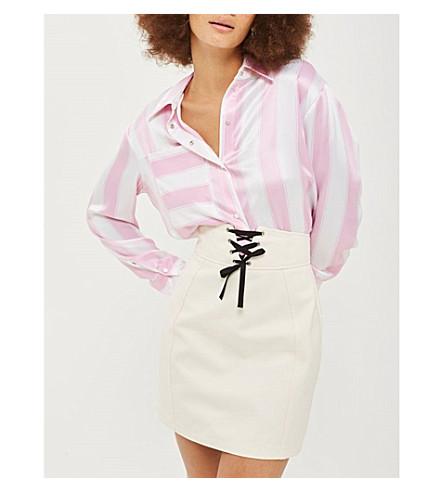 TOPSHOP Corset cotton skirt (Ivory