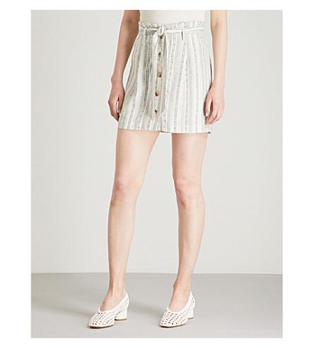 skirt linen Striped mini TOPSHOP Ivory TOPSHOP blend Striped BwzYnO8q