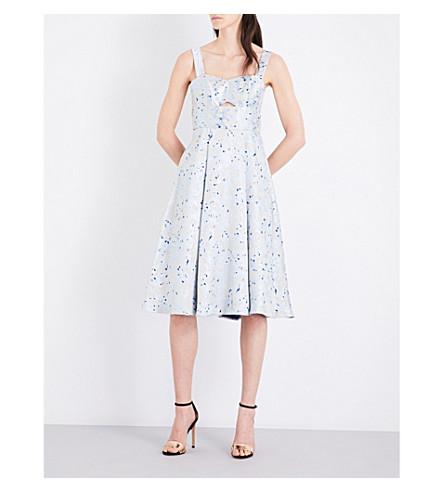 TOPSHOP Sweetheart jacquard dress (Blue
