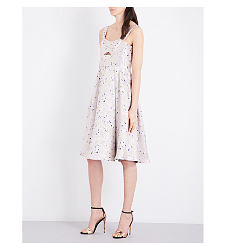 TOPSHOP Sweetheart jacquard dress (Pink