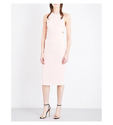 TOPSHOP Halterneck crepe dress (Blush