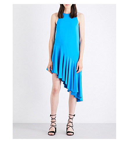 TOPSHOP Asymmetric flared dress (Pool+blue