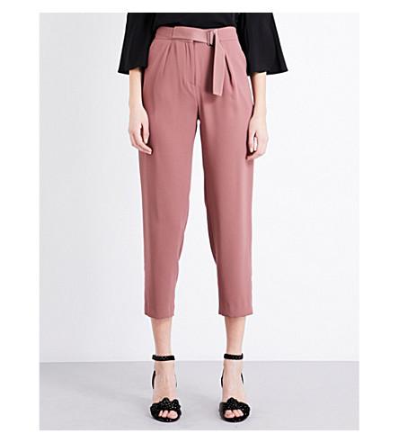 TOPSHOP Slider utility peg crepe trousers (Rose