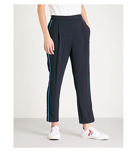 TOPSHOP 侧面条纹编织慢跑裤 (海军 + 蓝色