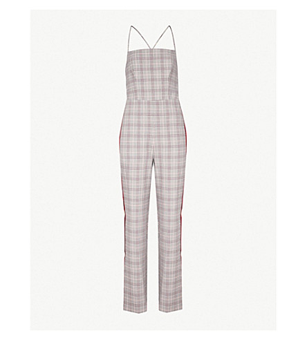11f876cce79 TOPSHOP Checked woven jumpsuit (Multi