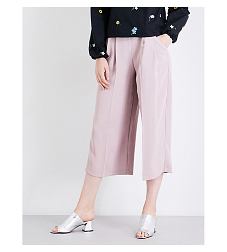 TOPSHOP Sasha cropped high-rise jersey trousers (Blush