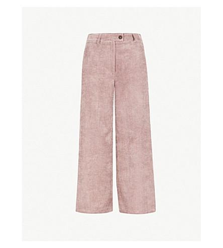 TOPSHOP Wide-leg corduroy trousers (Mauve