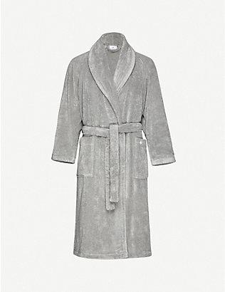 YVES DELORME: étoile medium terry bath robe