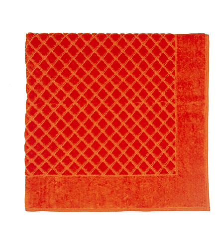 YVES DELORME Étoile quilted cotton bath mat (Orange