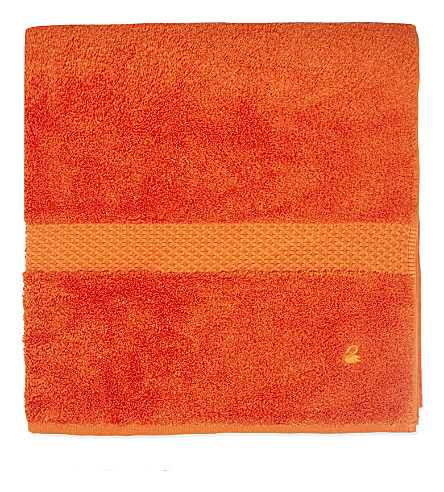 YVES DELORME Étoile cotton bath towel (Orange