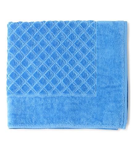YVES DELORME Étoile cotton bath mat (Cobalt