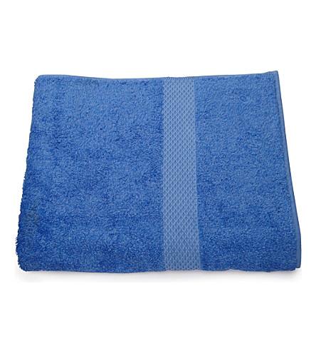 YVES DELORME Etoile bath sheet cobalt (Cobalt