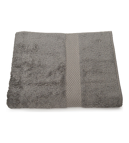 YVES DELORME Etoile hand towel platine (Platine