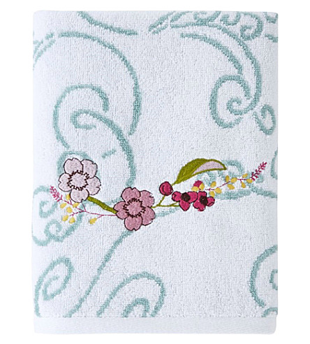 YVES DELORME Louise cotton hand towel (Amande