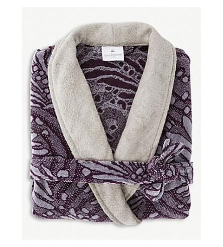 YVES DELORME Opal cotton-velour bath robe (Pierre