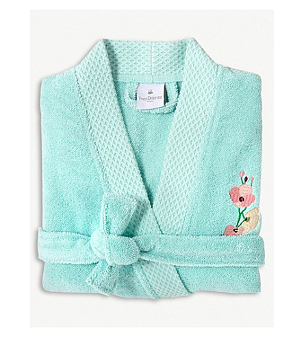 YVES DELORME Evasion cotton bathrobe (Menthe