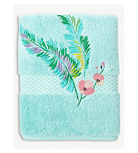 YVES DELORME Evasion cotton towel (Menthe