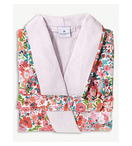 YVES DELORME Milfiori cotton bathrobe (Grenade